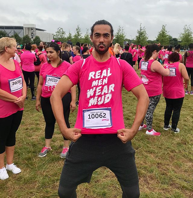 Had such a muddy great time taking part in @cancer_research_uk 5km Pretty Mudder today!  Thank you to everyone who donated and supported Laura and I.  We are still looking for donations so please feel free to donate via the link in the first comment below 👇🏾 #raceforlife #weekend #fun #funtimes #charity #exercise #beatcancer #london #uk #smile #lol #muddy #muddygoodtime #muddygoodrun