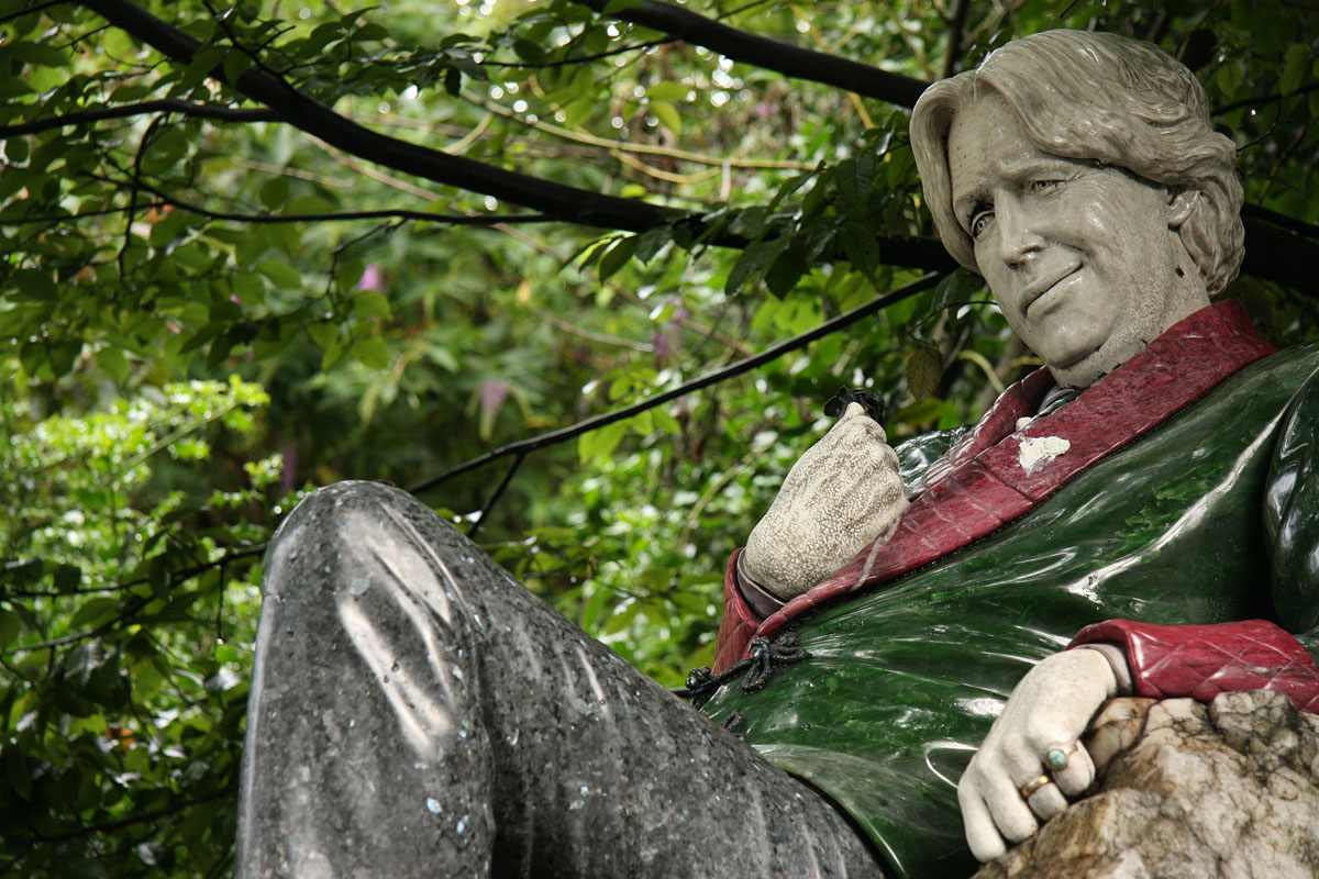 Oscar Wilde Memorial Sculpture is a collection of three statues in Merrion Square in Dublin, Ireland, commemorating Irish poet and playwright Oscar Wilde by Danny Osborne