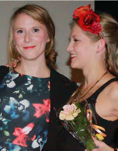 Frida Andersson tillsammans med Malin Påhls, fd ordförande i sloss