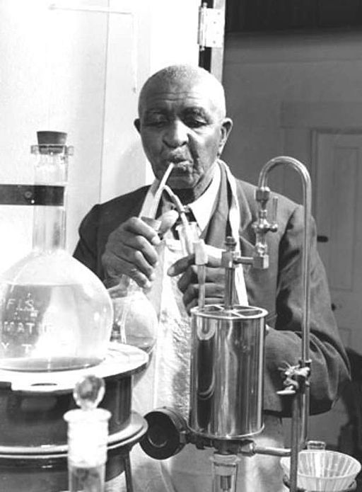 George Washington Carver at work