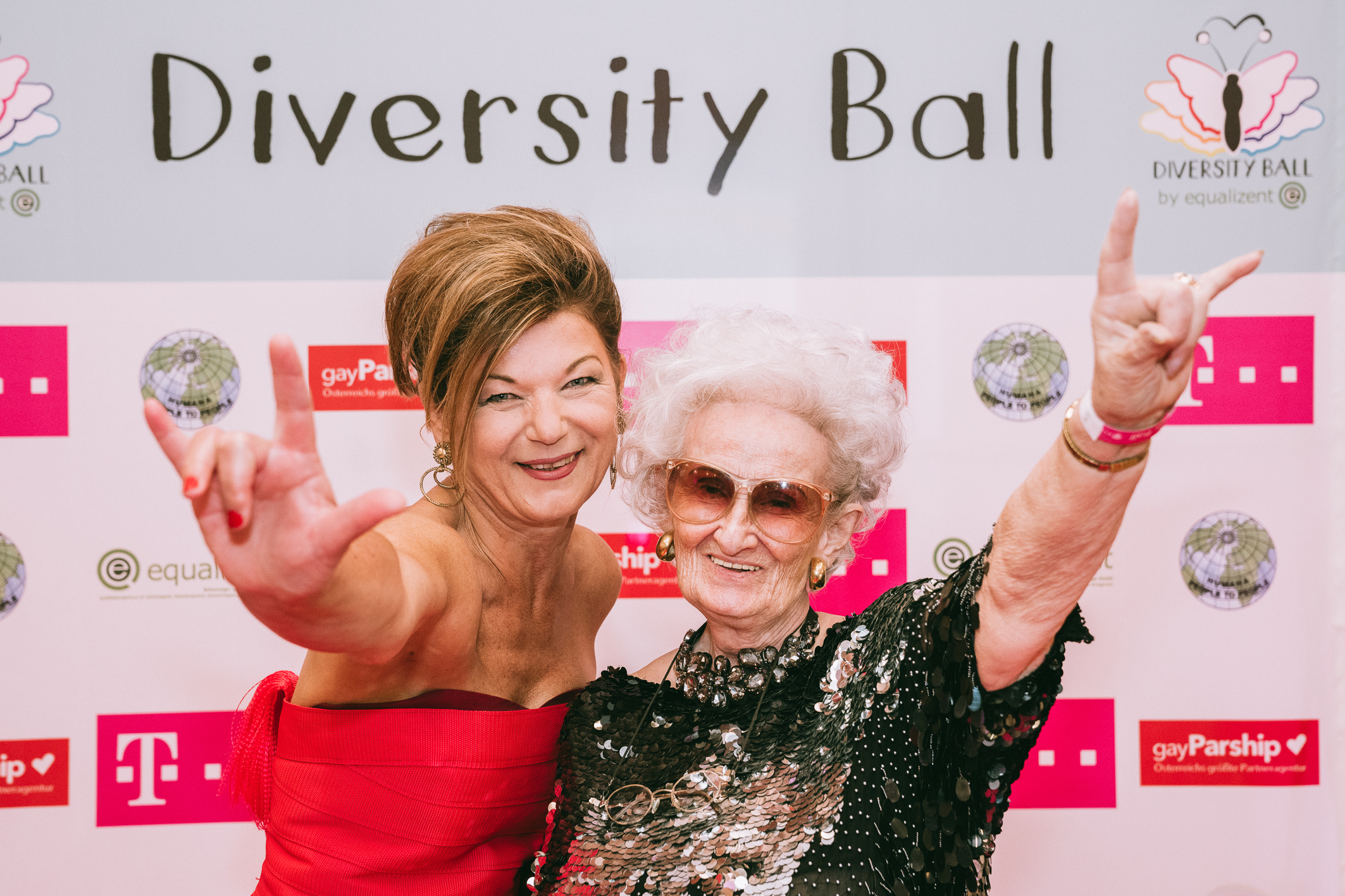 Monika Haider and Diversity Ball Covermodel Helga Zörrer