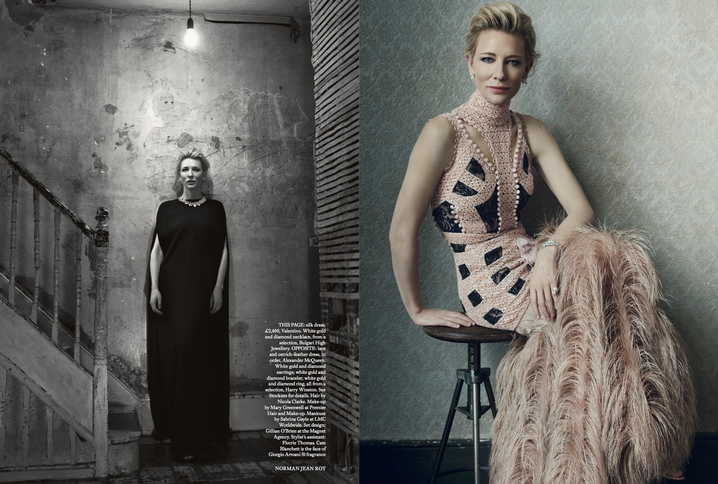 Cate Blanchett Cover Story for Harper's Bazaar, styled by Charlie Harrington. Spread 6.