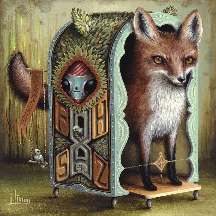 """Three Letter Words: Fox"", 8""x8"""