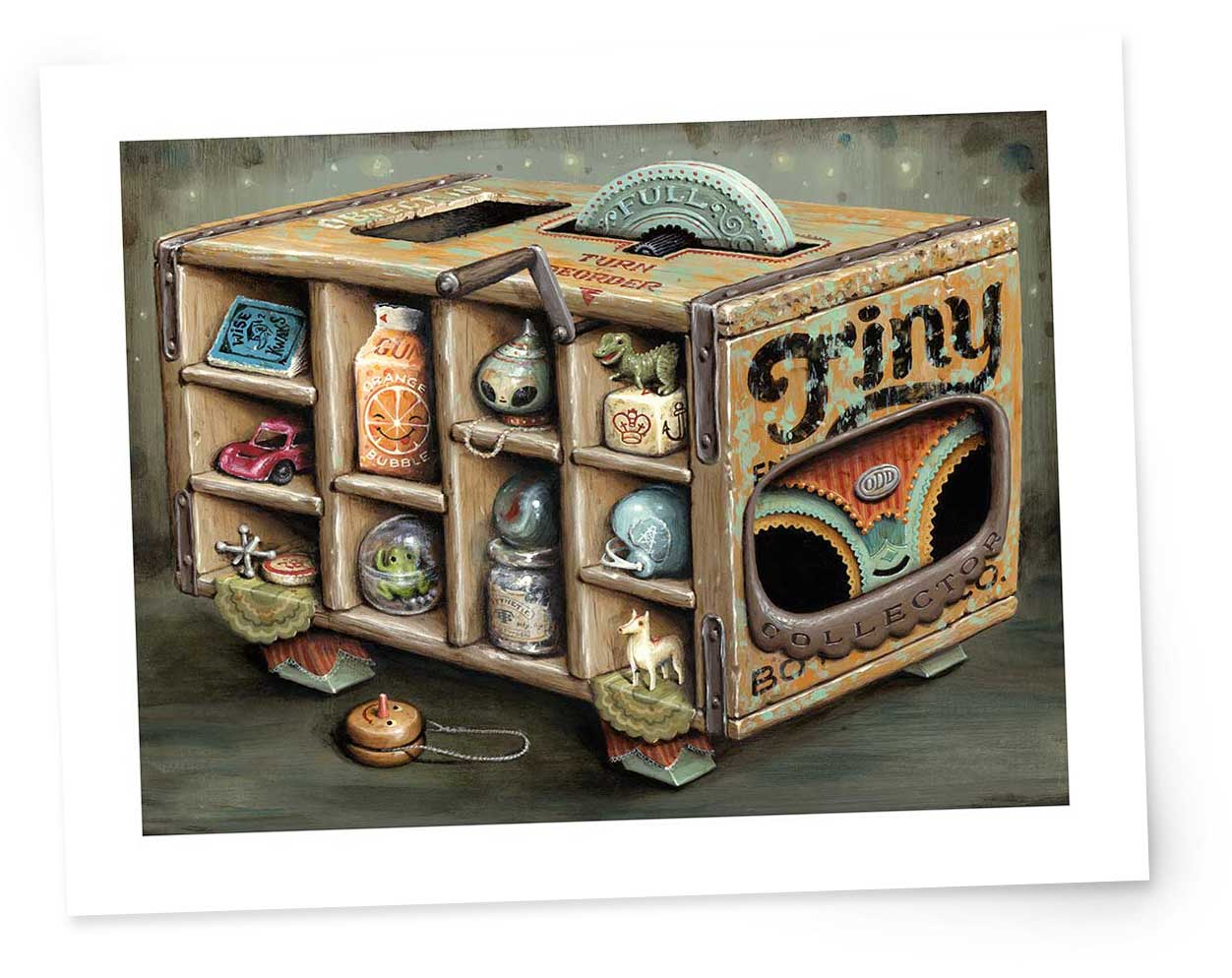 """Fine Art Prints of  Tiny Collector   Each 9"""" x 12"""" (11"""" x 14"""" with border) Signed and Numbered edition of 40 Canon Lucia Archival Inks,Hahnemuhle Photo Rag, 21 mil, 308 g/m² $40 each, plus shipping"""