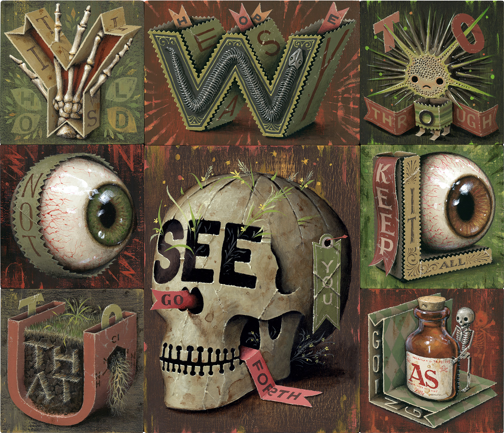"""You Will See , 14"""" x 12"""", Acrylic on Panels"""