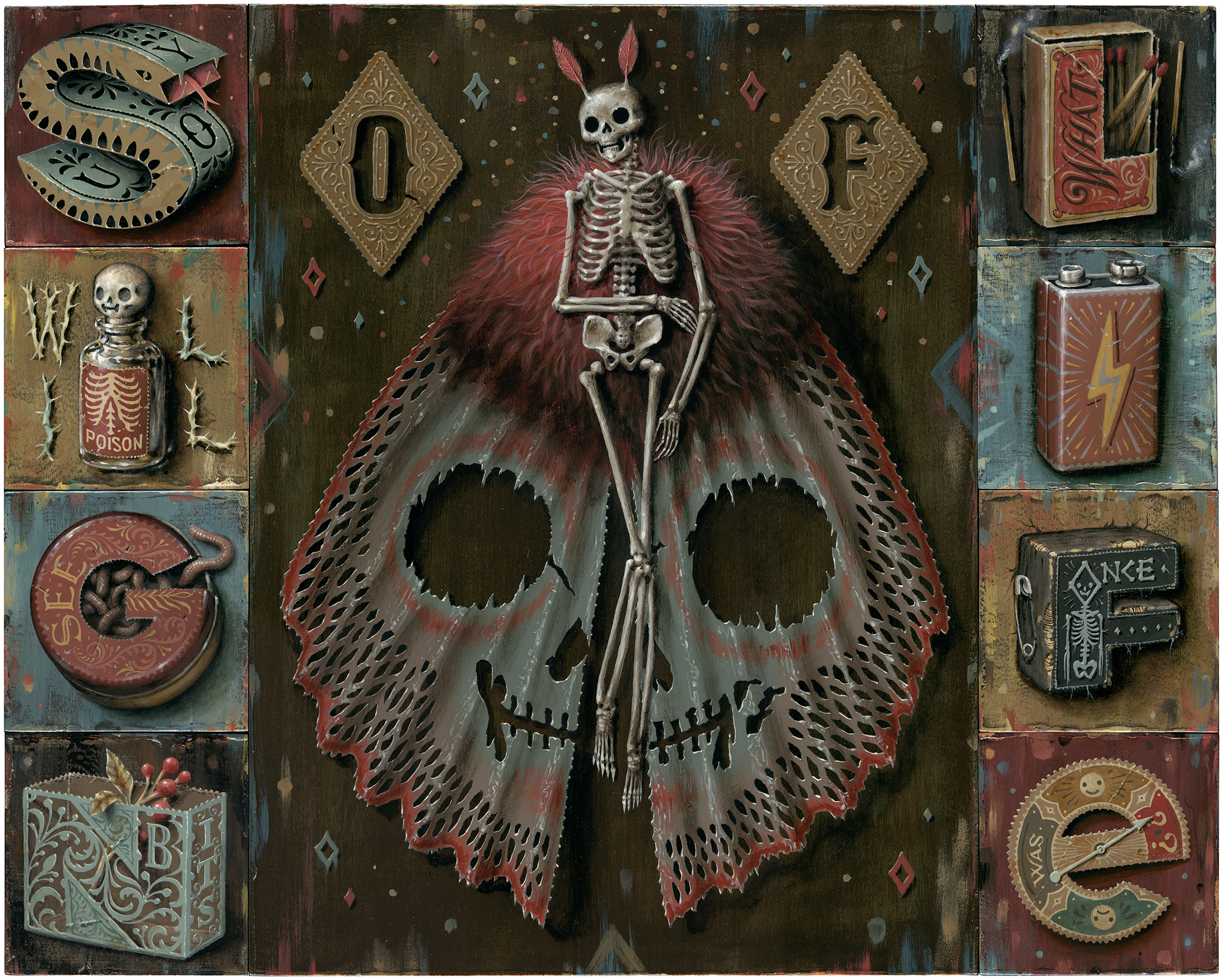"▲ Sign of Life, 16"" x 20"", Acrylic on Panels, $4600"
