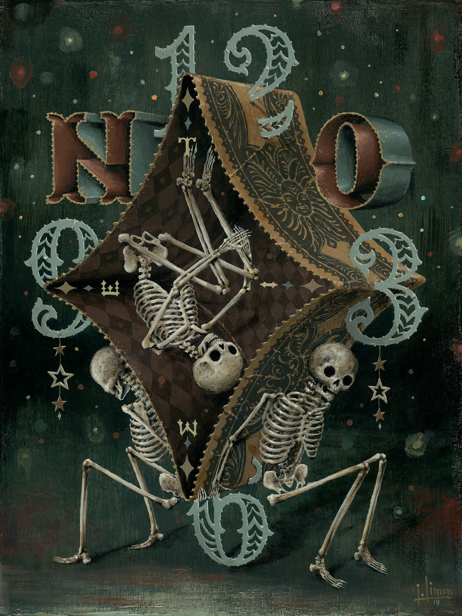 "▲ Suspended in Time, 9"" x 12"", Acrylic on Panel, $1500"