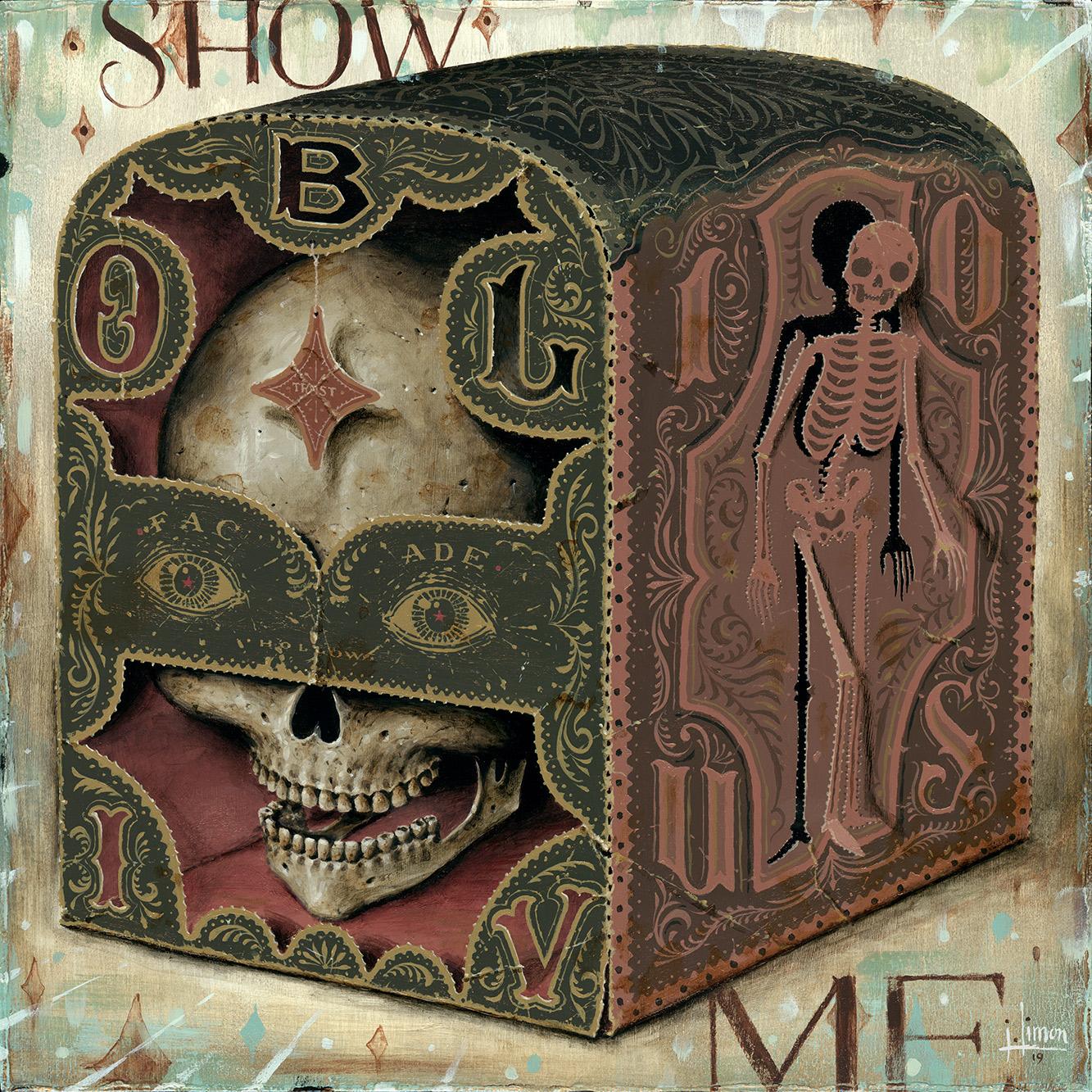 """▲ Show Me, 12"""" x 12"""", Acrylic on Panel, 🔴 $1700"""
