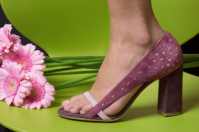 Venus Aubergine block heels on @etsy  PC - @greypistachio