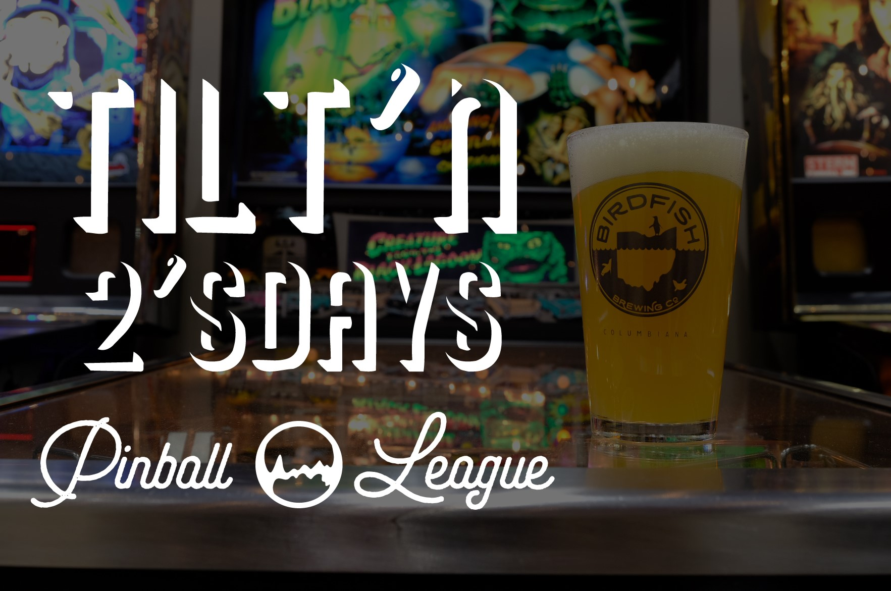 PINBALL LEAGUE EVERY TUESDAY AT 7 - Amateur Knockout Tournaments every week!  No experience required.  Coin drop only.  No commitment.  Show up when you can.  Drink beer and play pinball #quartersandporters #toohiptoflip #pintsnotpoints # fliplocalYO