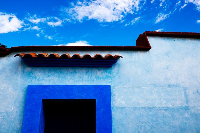 Blue doorway in lovers lane