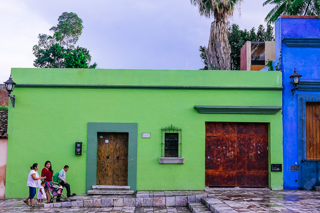 Green building in lovers lane