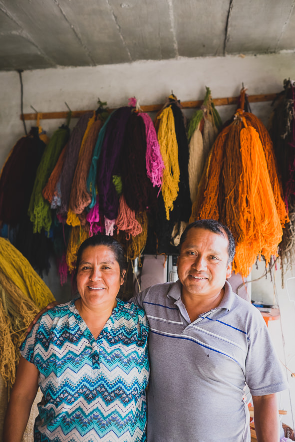 Mario & Alicia the makers of our Zapotec clutches