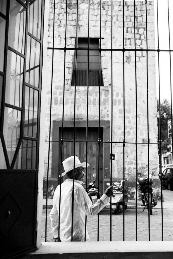 Old Cowboy in window