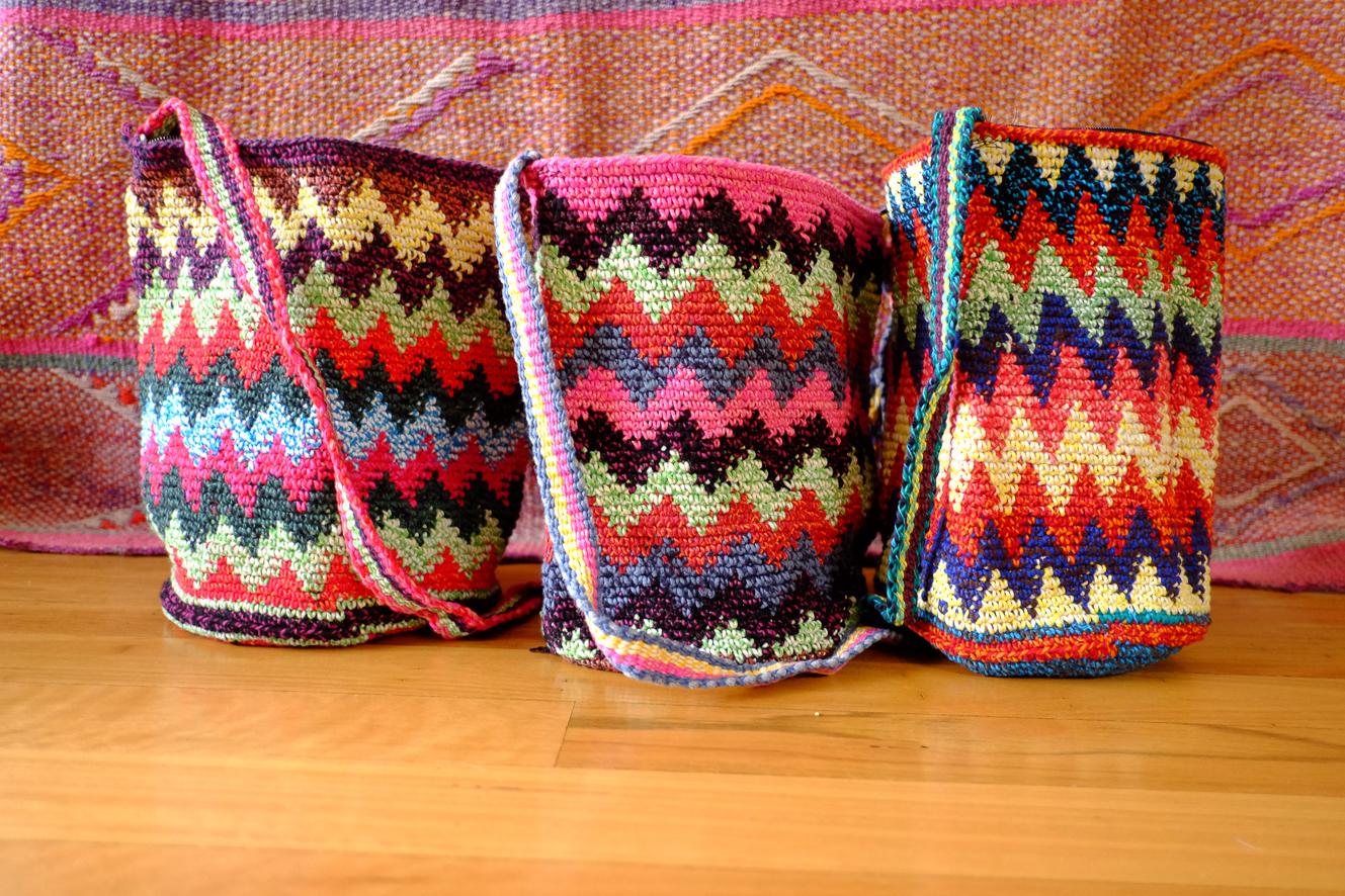 GUATEMALAN CROCHET BUCKET BAG   STATUS: IN STOCK