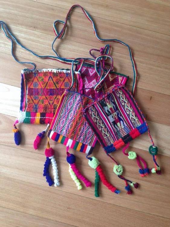 BOLIVIAN CHUSPA BAGS   STATUS: IN STOCK