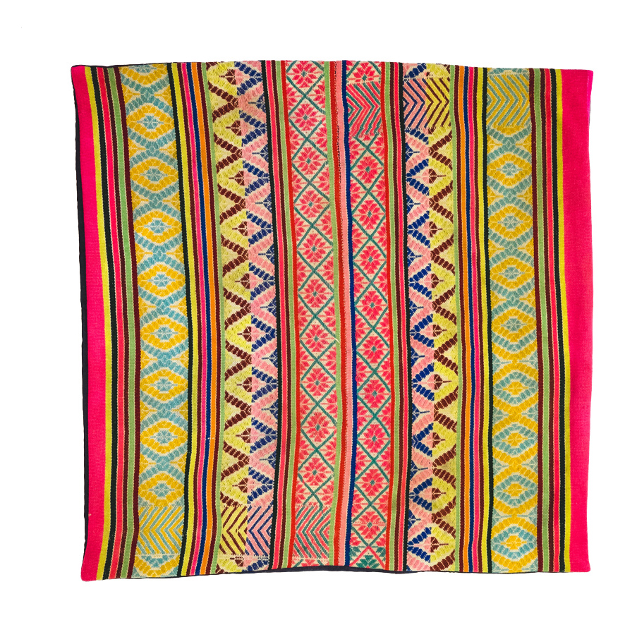 PERUVIAN FLOOR CUSHION (MULTI)   STATUS: SOLD OUT