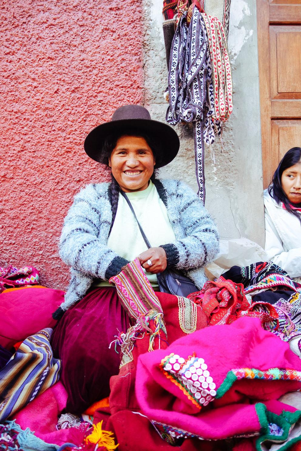 Emelda:  Second Hand Textile Merchant - Cusco, Peru