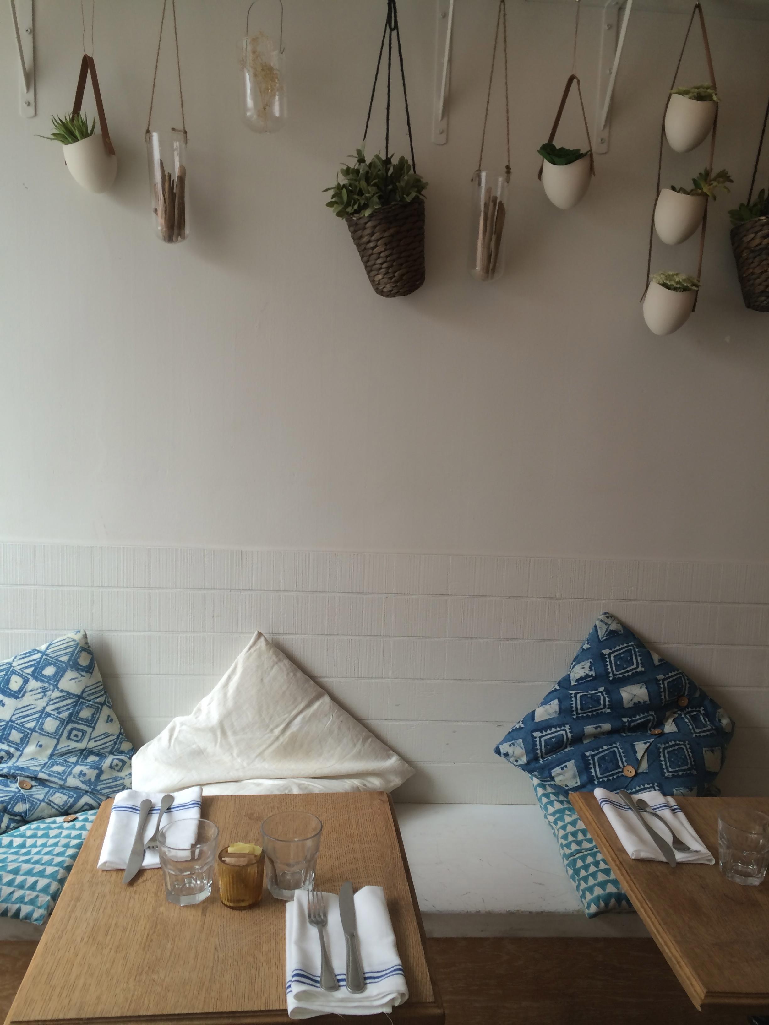 We ate breakfast at Bluestone Lane Cafe in Greenwich. Great decor..
