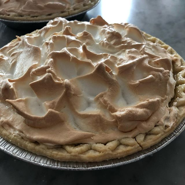 Fresh lemon meringue pies. The end of the 4th weekend!