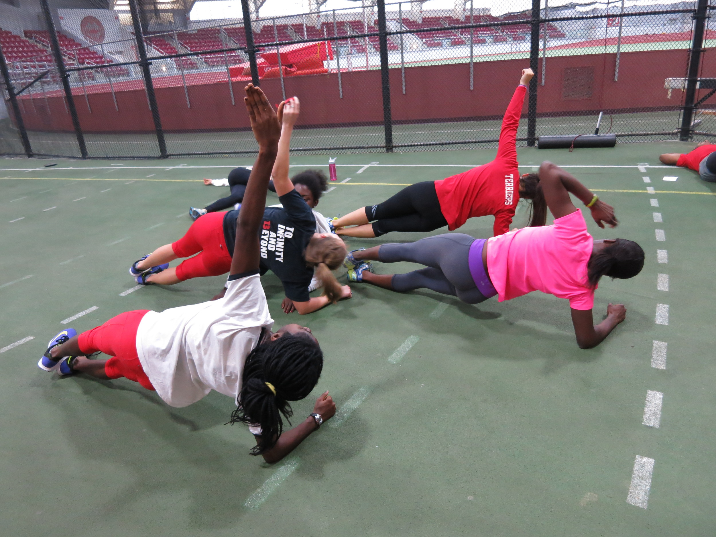 Planks with Team 5
