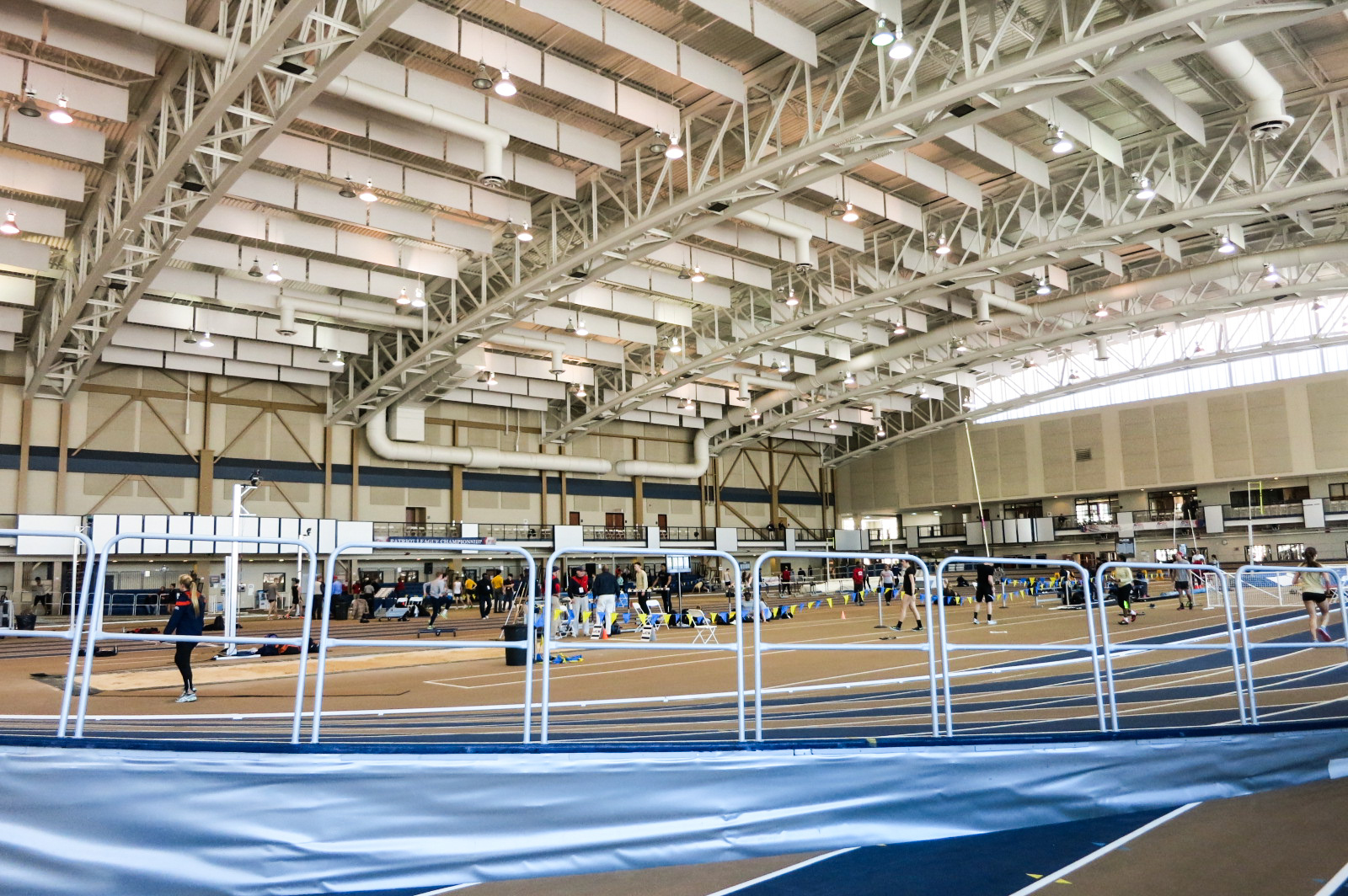 Look how much space it takes up!  I swear it looks bigger than the Boston U. track