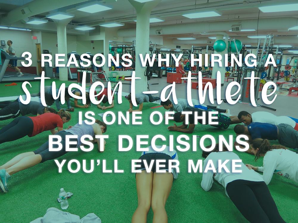 student athletes make awesome employees