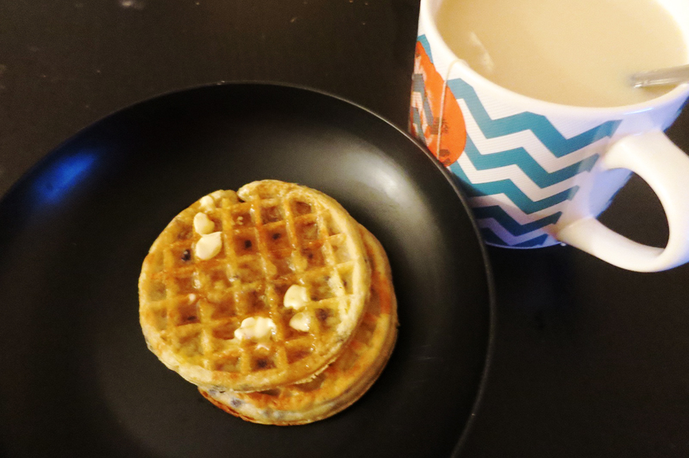 Blueberry Waffles and Earl Grey Green Tea