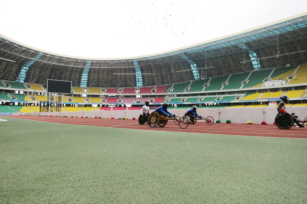 Ghana para-athletics at practice