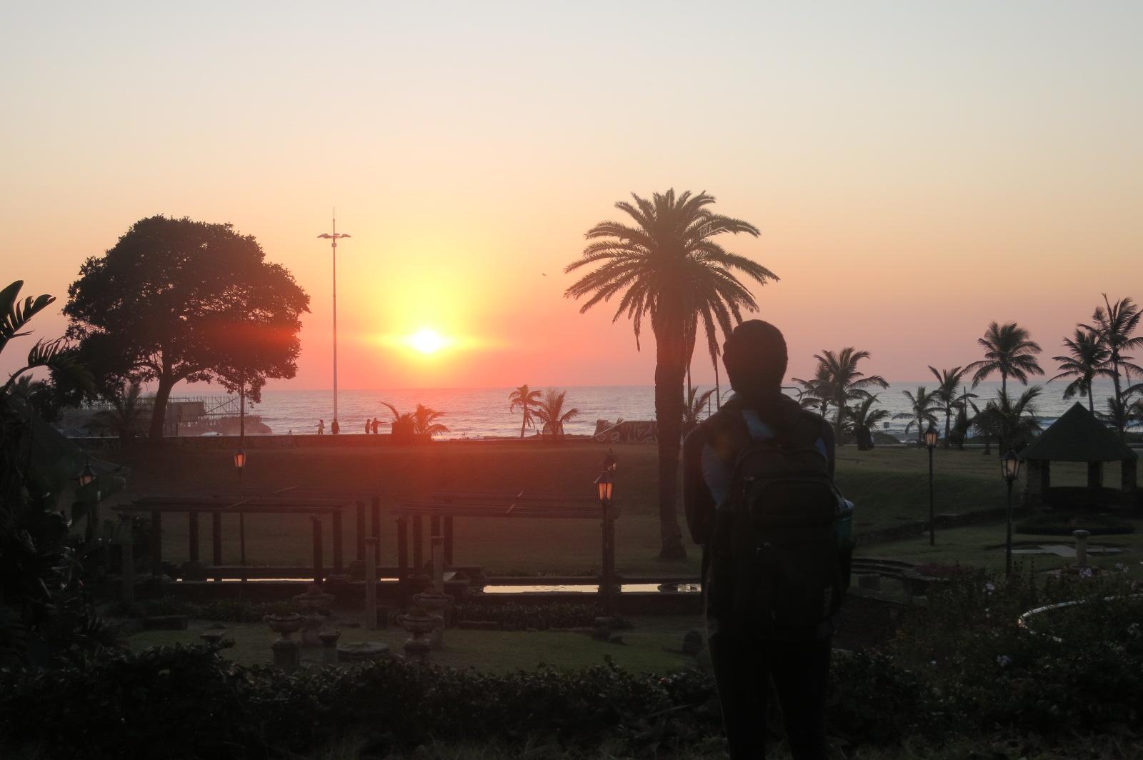 Sunrise in Durban, South Africa