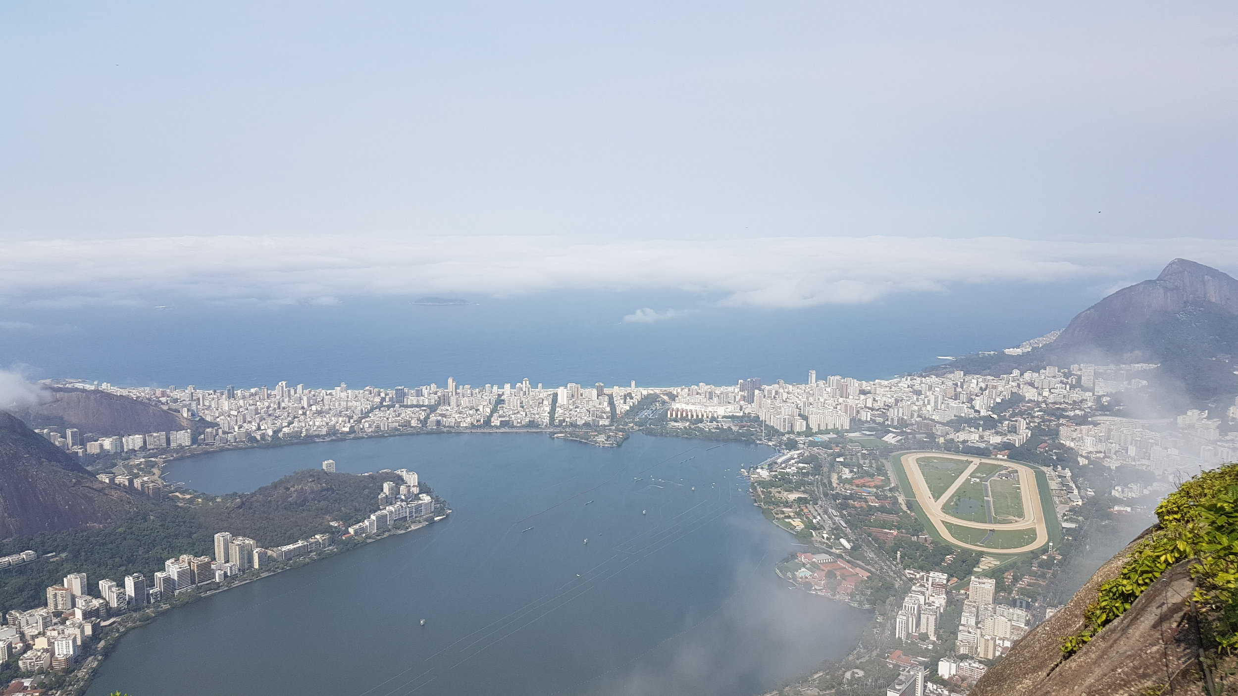 View at Christ the Redeemer in Brazil