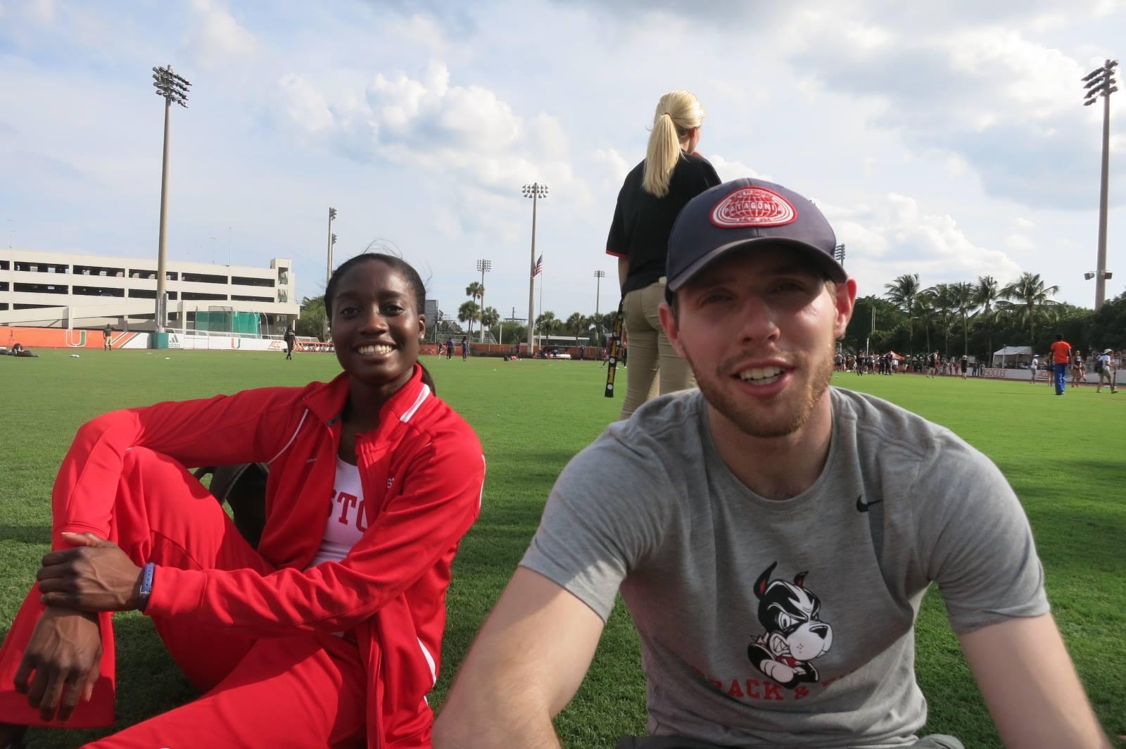 Djenne and David at Miami Hurricane Invite