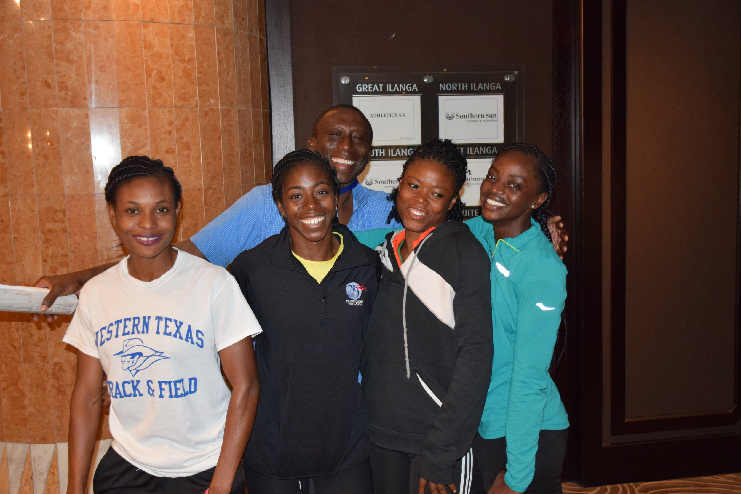 Prof. Dodoo, Flings, Janet Amponsah, and Beatrice Gyaman, and I in Durban