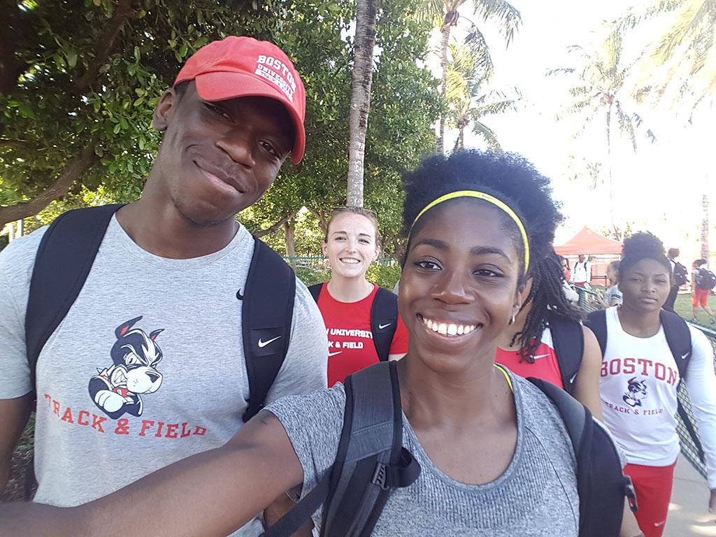 David Oluwadara, Ally, and I (Gemma) in Miami