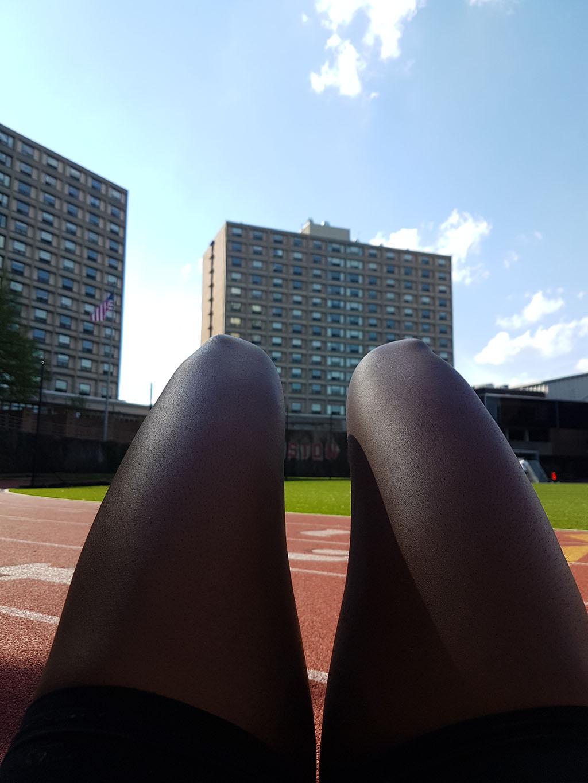 Post-Practice Sunbathing