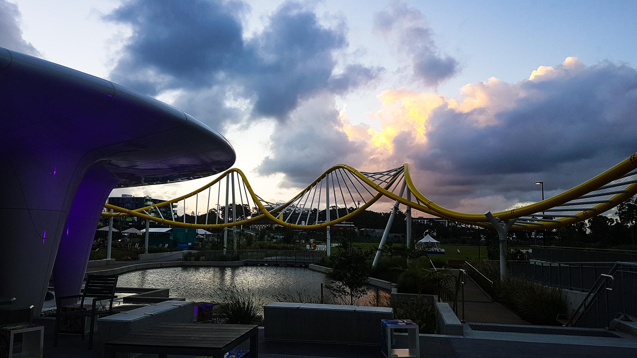 Twilight shot of Gold Coast Athlete's Village