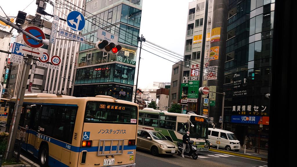 Driving through Yokohama, Japan