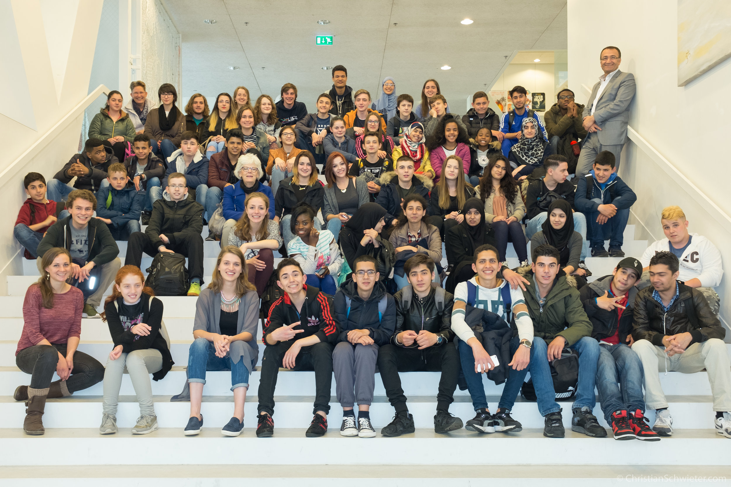 Students from Johan de Witt visit LUC in Spring 2016.