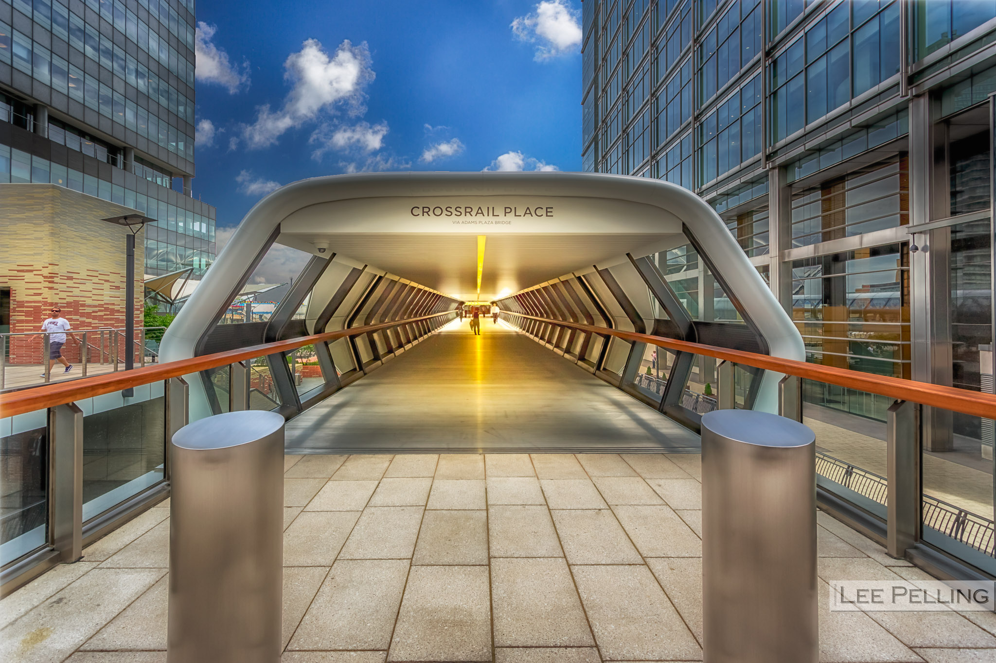 Crossrail Place via Adams Plaza Bridge