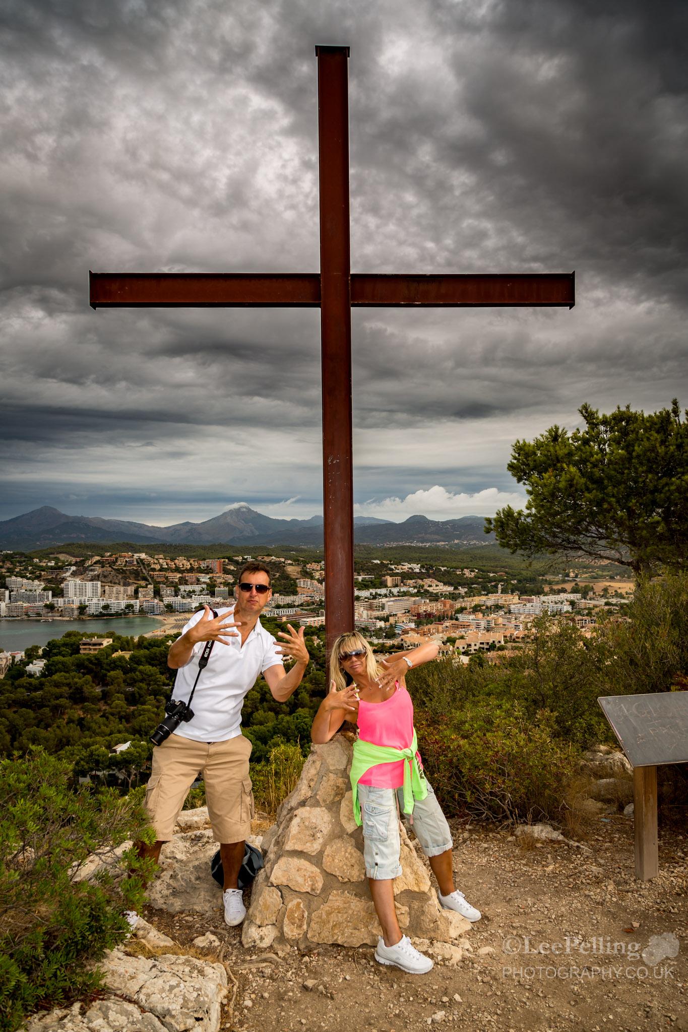 Deb and Paul at the Cross Santa Ponsa