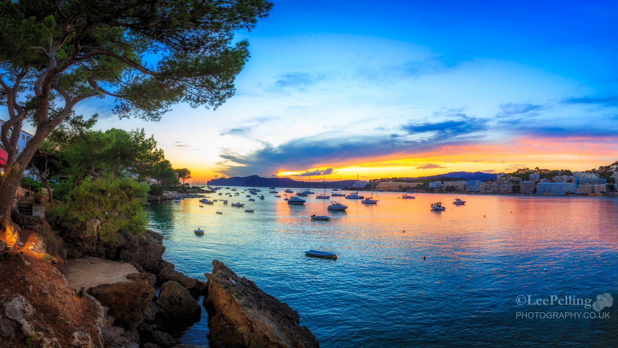 Sunset Santa Ponsa from El Balcon De Maria