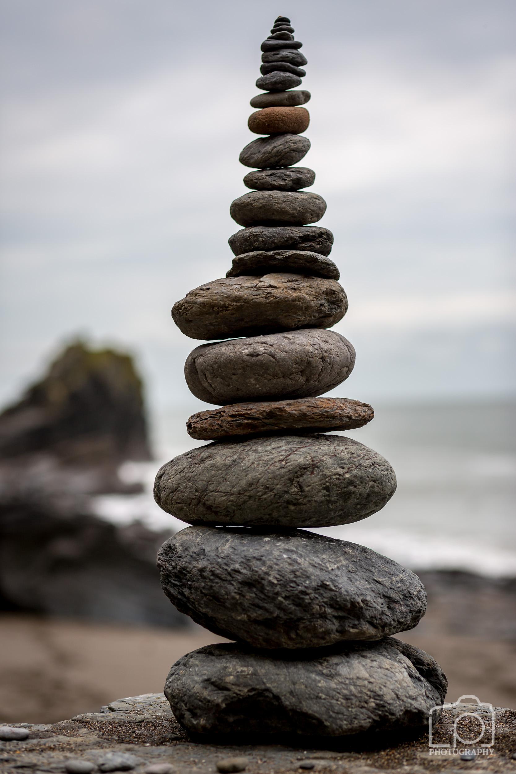 Rock stack at Wringcliff