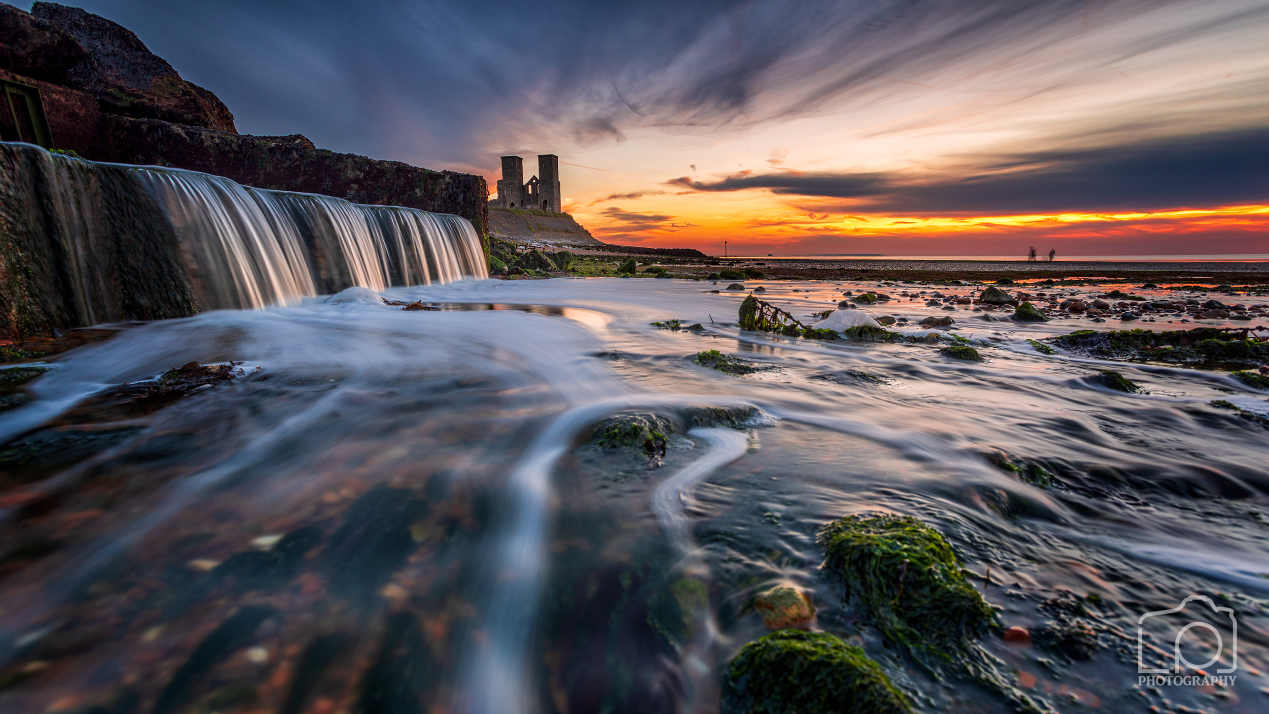 Reculver Towers Sunset