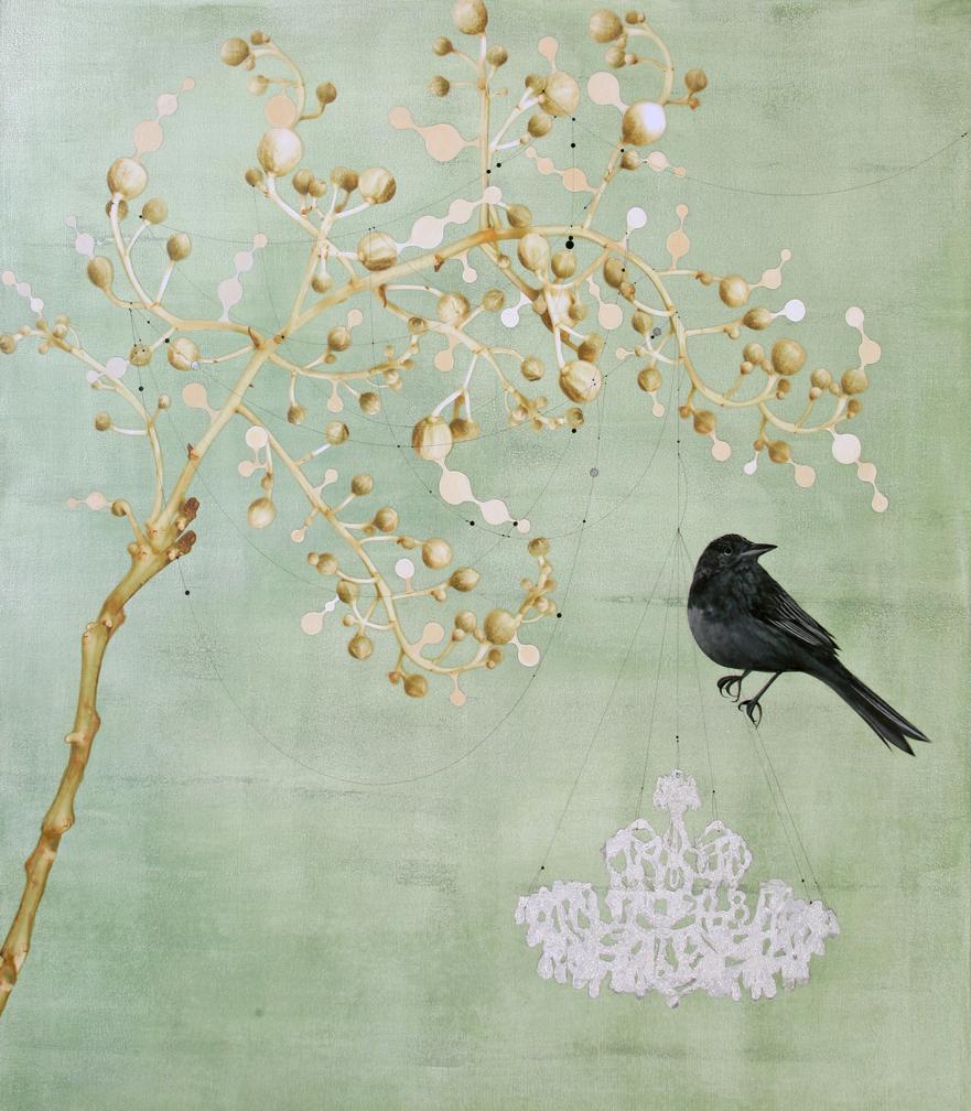 Black bird and Chandelier #101