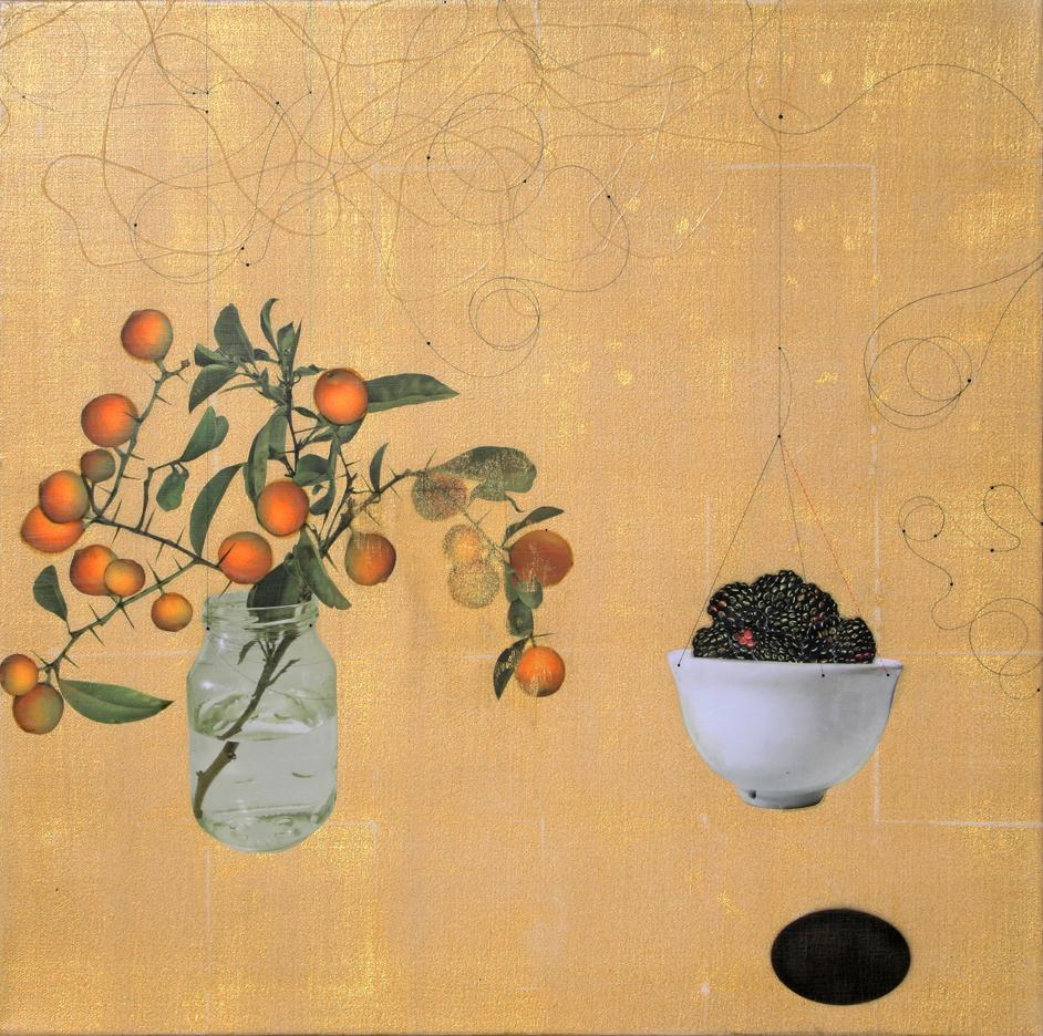 Orange and Blackberry #101