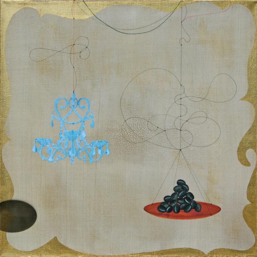 Blue chandelier and black olive #101
