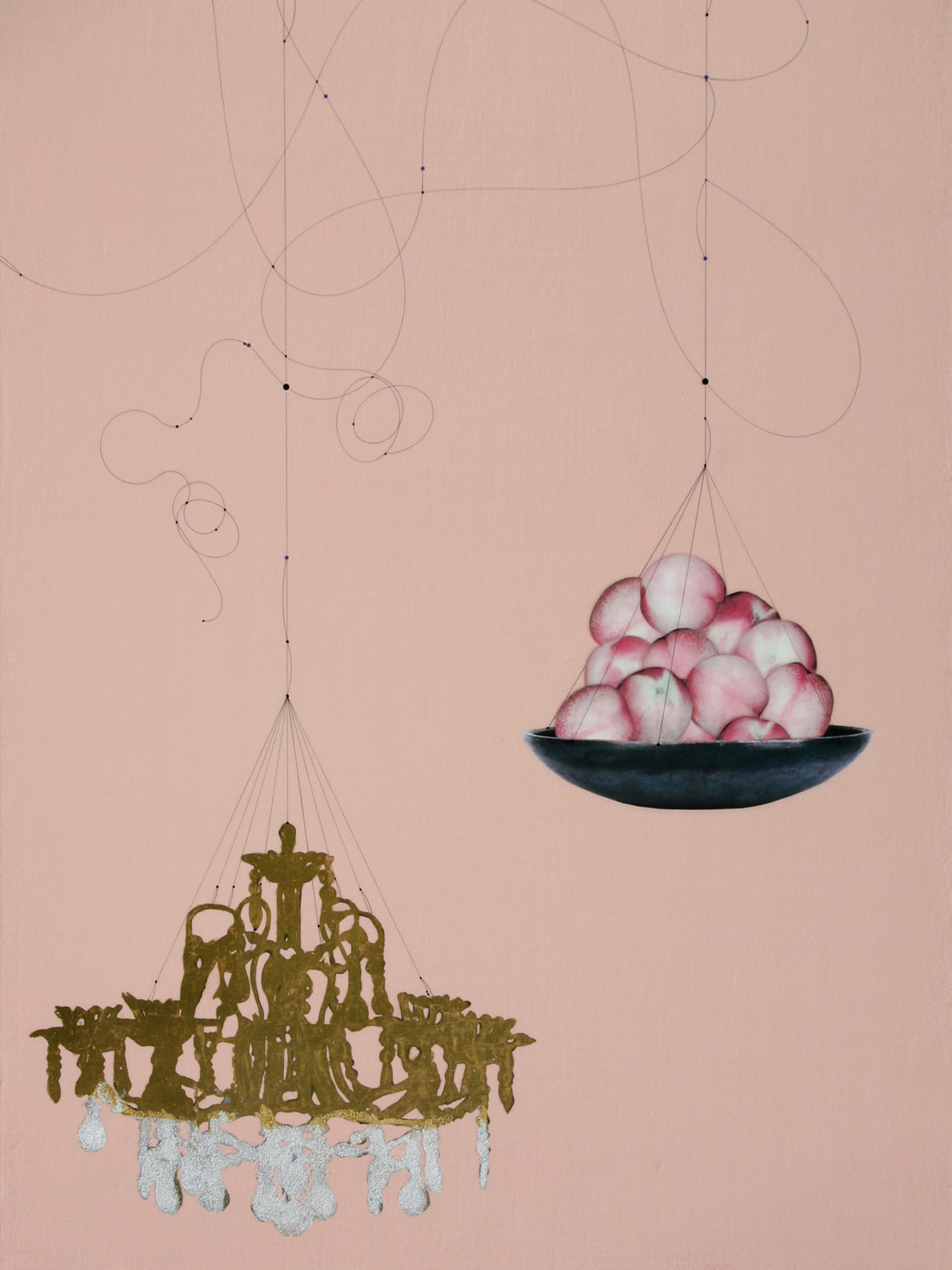 Peach and Chandelier #121