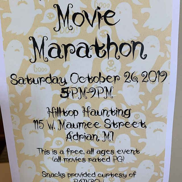Flyers are in (maybe someday I'll catch all my typos🙄). #movienight #halloween #typoseverywhere #lgbtq #pride #familyfun