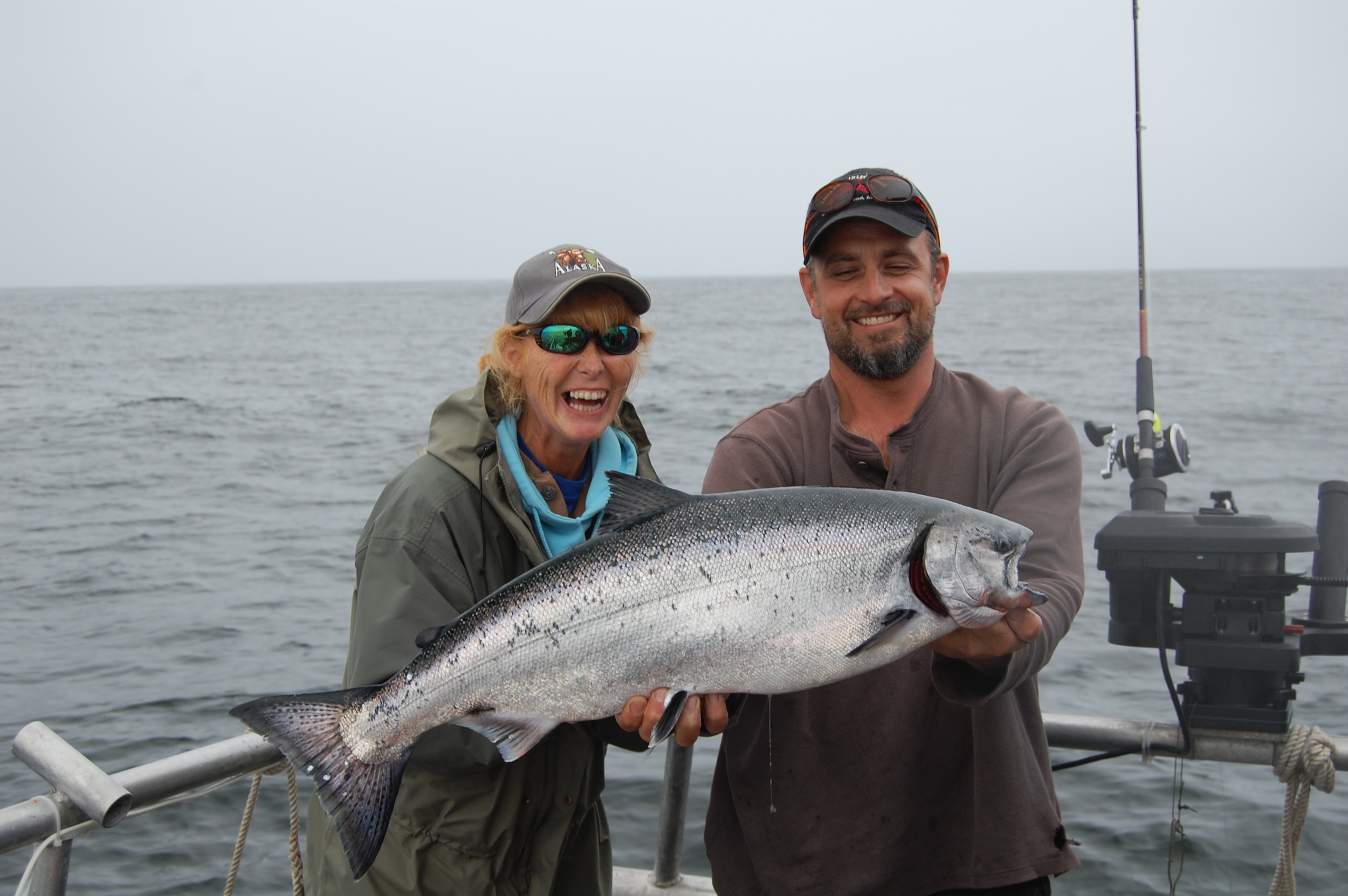 A nice Alaska king salmon, maybe 18 pounds.