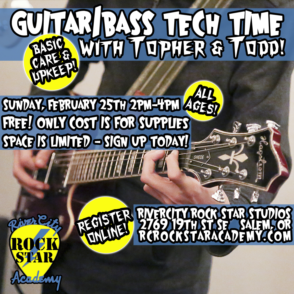 guitar bass tech workshop